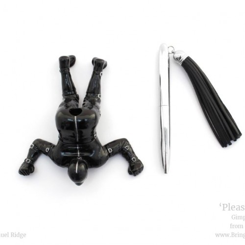The 'Pleasure & Pen' gimp pen holder is a beautifully hand painted pen holder perfect for any desk.